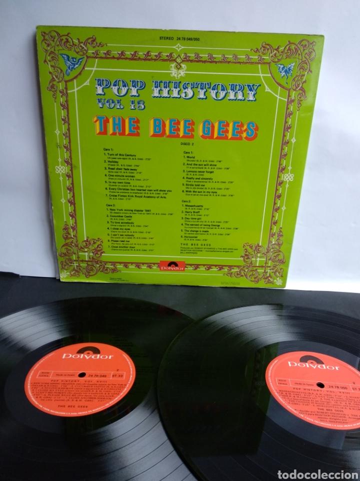Discos de vinilo: THE BEE GEES, POP HISTORY VOL.18 - Foto 3 - 289516903
