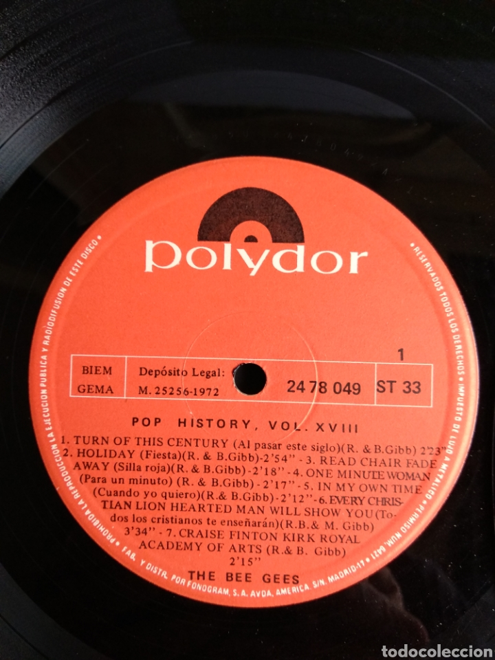 Discos de vinilo: THE BEE GEES, POP HISTORY VOL.18 - Foto 4 - 289516903