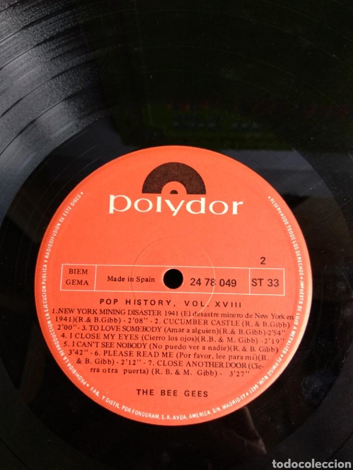 Discos de vinilo: THE BEE GEES, POP HISTORY VOL.18 - Foto 6 - 289516903