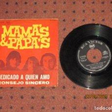Discos de vinilo: THE MAMA´S & PAPA´S - DEDICADO A QUIE AMO - SINGLE - SPAIN - RCA VICTOR - L -. Lote 289516993