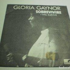 Discos de vinilo: SINGLE GLORIA GAYNOR. SOBREVIVIRÉ. SUBSTITUTE. POLYDOR 1978 SPAIN (PROBADO, BUEN ESTADO). Lote 289518508