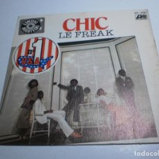 Dischi in vinile: SINGLE CHIC. LE FREAK. SAVOIR FAIRE. ATLANTIC 1978 SPAIN (PROBADO, BUEN ESTADO). Lote 289519143