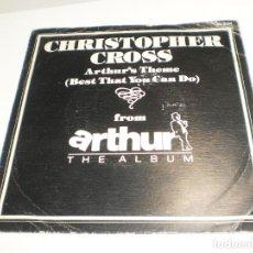 Discos de vinilo: SINGLE CHRISTOPHER CROSS. ARTHUR'S THEME. MINSTREL GIGOLO.WARNER 1979 SPAIN (PROBADO, BUEN ESTADO). Lote 289519358