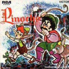 Discos de vinilo: PINOCHO SINGLE RCA 1967 - CUENTO EVANGELINA SALAZAR. Lote 289520523