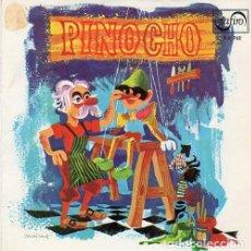 Discos de vinilo: PINOCHO - TEATRO INVISIBLE DE RADIO NACIONAL BARCELONA(MAESTRO LUIS FERRER) SINGLE ROJO ZAFIRO 1967. Lote 289520783