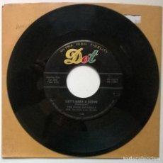 Discos de vinilo: THE FOUR IMPERIALS. LAZY BONNIE/ LET'S MAKE A SCENE. DOT, USA 1958 SINGLE. Lote 289522128