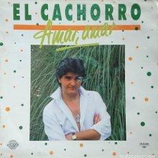Discos de vinilo: EL CACHORRO - AMAR,AMAR - CON DEDICATORIA. Lote 289529018