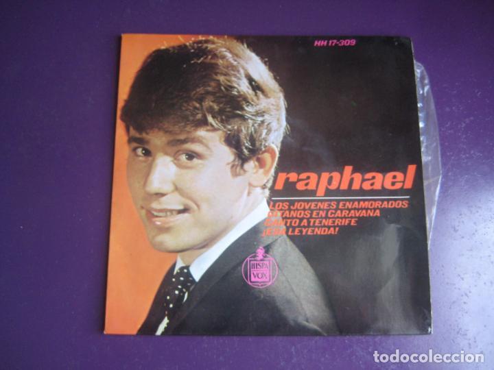 RAPHAEL - LOS JOVENES ENAMORADOS +3 - EP HISPAVOX 1965 - POP 60'S - POCO USO (Música - Discos de Vinilo - EPs - Solistas Españoles de los 70 a la actualidad)
