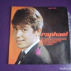 Discos de vinilo: RAPHAEL - LOS JOVENES ENAMORADOS +3 - EP HISPAVOX 1965 - POP 60'S - POCO USO. Lote 289539098