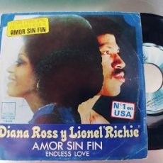 Discos de vinilo: DIANA ROSS Y LIONEL RICHIE-SINGLE AMOR SIN FIN. Lote 289542543