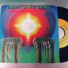 Discos de vinilo: EARTH WIND & FIRE-SINGLE CUANDO EL AMOR TERMINA. Lote 289543598