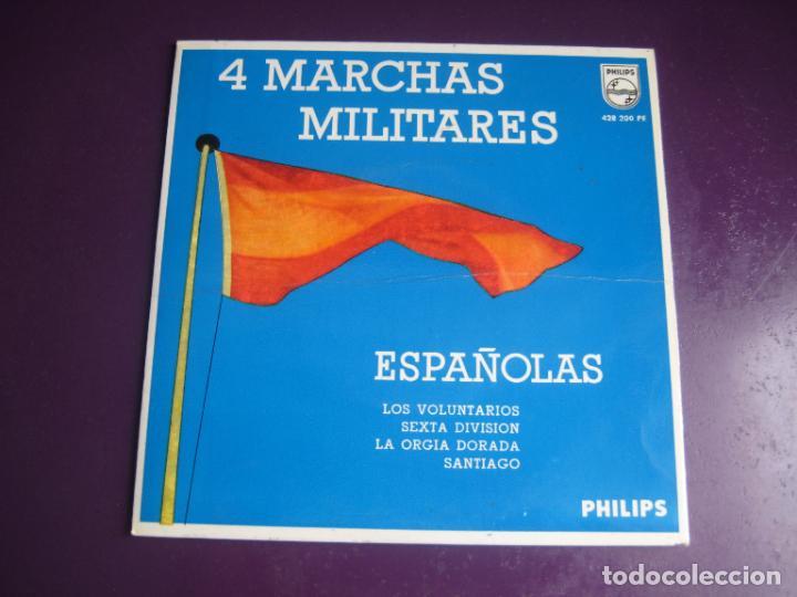 4 MARCHAS MILITARES ESPAÑOLAS EP PHILIPS 1969 - LOS VOLUNTARIOS +3 - BANDA MINISTERIO EJERCITO (Música - Discos de Vinilo - EPs - Clásica, Ópera, Zarzuela y Marchas)
