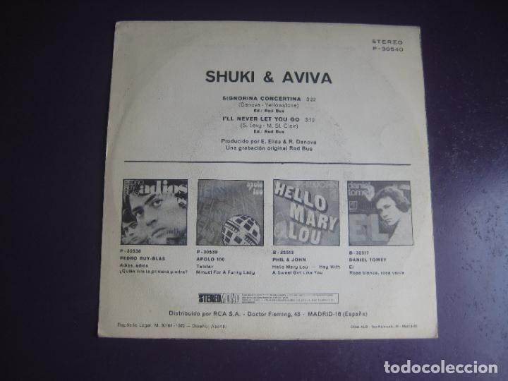 Discos de vinilo: Shuki & Aviva – Signorina Concertina - Sg POPLANDIA 1972 - POP 70S HIPPY ISRAEL - POCO USO - Foto 2 - 289544778
