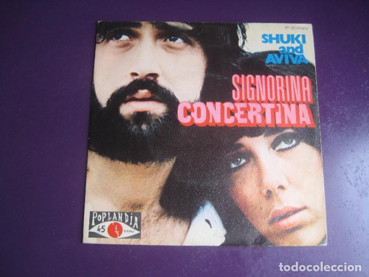 SHUKI & AVIVA – SIGNORINA CONCERTINA - SG POPLANDIA 1972 - POP 70'S HIPPY ISRAEL - POCO USO (Música - Discos - Singles Vinilo - Pop - Rock - Internacional de los 70)