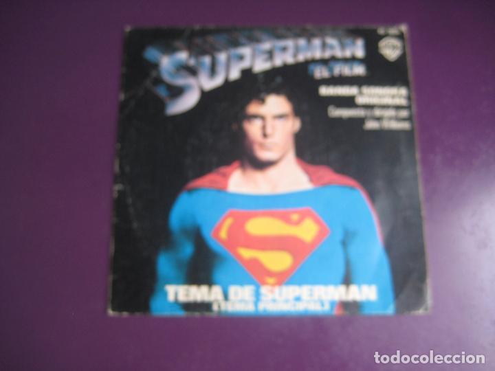 JOHN WILLIAMS - TEMA DE SUPERMAN - SG WARNER 1978 - ELECTRONICA BSO CINE - LEVE USO (Música - Discos - Singles Vinilo - Bandas Sonoras y Actores)