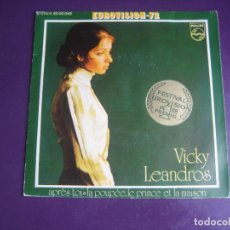Discos de vinilo: VICKY LEANDROS – APRÈS TOI - SG PHILIPS 1972 - 1ER PREMIO EUROVISION - POCO USO. Lote 289548523