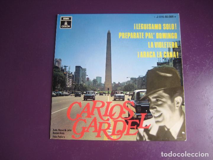 CARLOS GARDEL - EP EMI ODEON 1969 - LEGUISAMO SOLO +3 - TANGOS ARGENTINA - FOTO BUENOS AIRES (Música - Discos de Vinilo - EPs - Grupos y Solistas de latinoamérica)