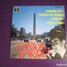Discos de vinilo: CARLOS GARDEL - EP EMI ODEON 1969 - LEGUISAMO SOLO +3 - TANGOS ARGENTINA - FOTO BUENOS AIRES. Lote 289548993
