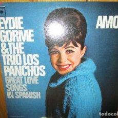 Discos de vinilo: LP DE USA EYDIE GORME & THE LOS PANCHOS GREAT LOVE SONGS IN SPANISH . AMOR , NOCHE DE RONDA ,. Lote 289549288