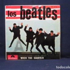 Discos de vinilo: LOS BEATLES - WHEN THE SAINTS +3 - EP. Lote 289549533