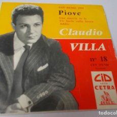 Discos de vinilo: CLAUDIO VILLA PIOVE SAN REMO 1959. Lote 289550538