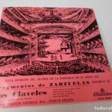 Discos de vinilo: FRAGMENTOS DE ZARZUELA LOS CLAVELES SELECCIÓN Nº 53. Lote 289552223