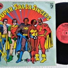 """Discos de vinilo: JERRY MASUCCI PRESENTS - """" SUPER SALSA SINGERS """" LP 1980 SPAIN VARIOS. Lote 289552653"""