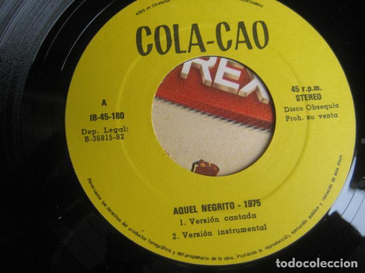 Discos de vinilo: Confidencias Con Nutrexpa - La Canción Del Negrito - Sg IBEROFON 1982 - POCO USO - PUBLICIDAD TVE - Foto 3 - 289554458