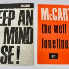 Discos de vinilo: LOTE DE 2 MAXI SINGLES. MCCARTHY. THE WELL OF LONELINESS. KEEP AND OPEN MIND OR ELSE. POP BRITÁNICO. Lote 289557273