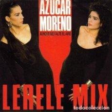 Discos de vinilo: AZUCAR MORENO - AUNQUE ME FALTE EL AIRE (LERELE MIX) - MAXI-SINGLE PROMO SPAIN. Lote 289566363