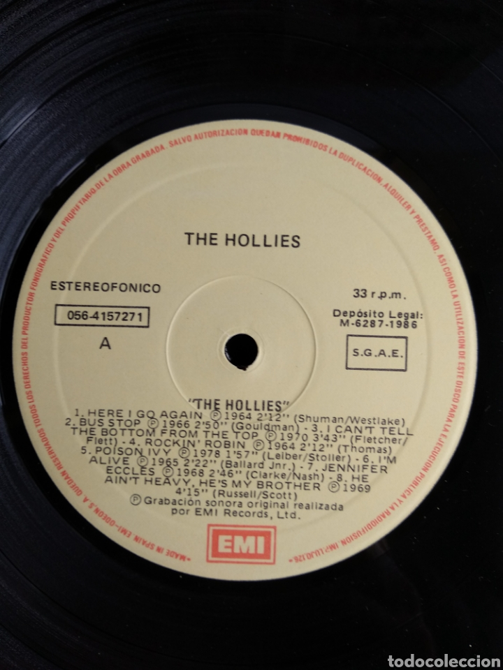 Discos de vinilo: THE HOLLIES, PIONEROS DEL ROCK LIVERPOOL SOUND, 1986 - Foto 3 - 289566958