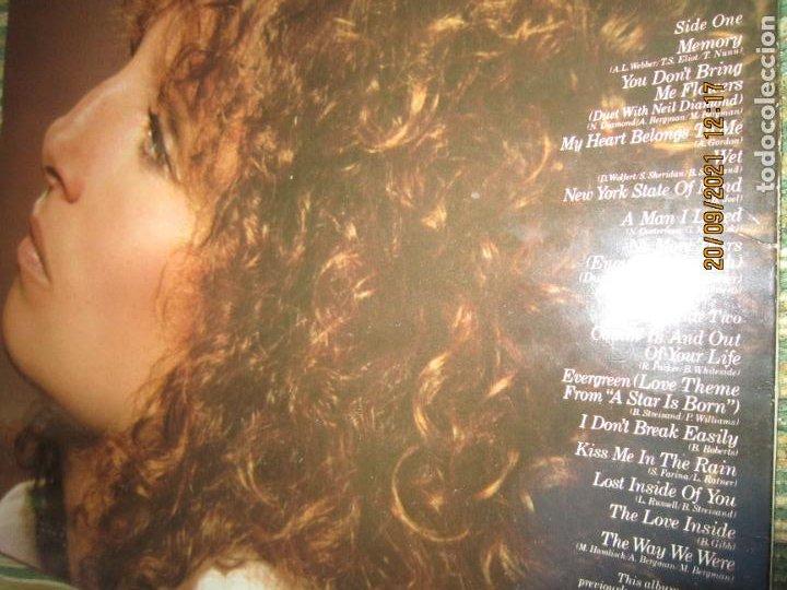 Discos de vinilo: BARBRA SREISAND - LOVE SONG LP - ORIGINAL INGLES - CBS RECORDS 1981 CON FUNDA INT. ORIGINAL - Foto 4 - 289569293