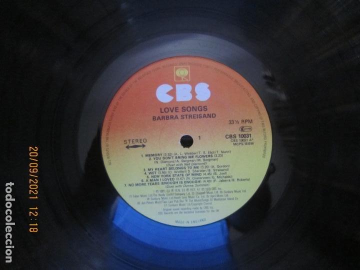 Discos de vinilo: BARBRA SREISAND - LOVE SONG LP - ORIGINAL INGLES - CBS RECORDS 1981 CON FUNDA INT. ORIGINAL - Foto 11 - 289569293