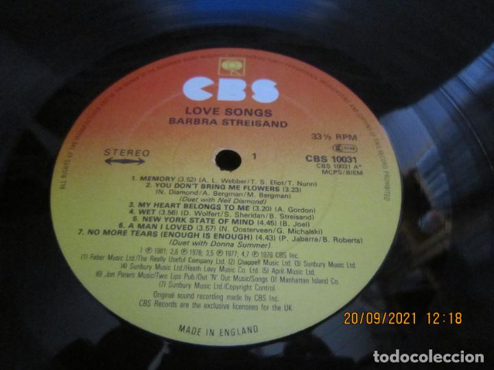 Discos de vinilo: BARBRA SREISAND - LOVE SONG LP - ORIGINAL INGLES - CBS RECORDS 1981 CON FUNDA INT. ORIGINAL - Foto 12 - 289569293