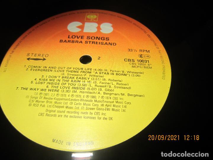 Discos de vinilo: BARBRA SREISAND - LOVE SONG LP - ORIGINAL INGLES - CBS RECORDS 1981 CON FUNDA INT. ORIGINAL - Foto 14 - 289569293
