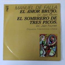 Discos de vinilo: MANUEL DE FALLA. EL AMOR BRUJO. SOMBRERO DE TRES PICOS. JEAN MEYLAN. JEAN FOURNET. LP. TDKDA80. Lote 289571123