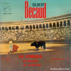 Discos de vinilo: GILBERT BECAUD - LE PIANISTE DE VARSOVIE / JE T'AI OUVERT LE YEUX / LA CORRIDA - CA CLAQUE - EP 1963. Lote 289572178
