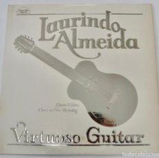 Discos de vinilo: LAURINDO ALMEIDA. VIRTUOSO GUITAR. LIMITED EDITION. DIRECT TO DISC RECORDING. CRYSTAL CLEAR. 1977. Lote 289596008