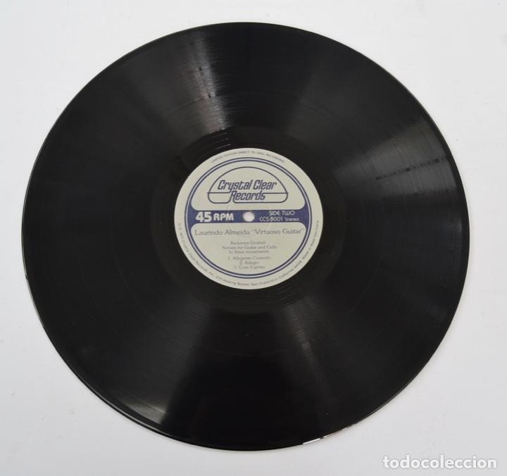 Discos de vinilo: Laurindo Almeida. Virtuoso Guitar. Limited Edition. Direct to Disc Recording. Crystal Clear. 1977 - Foto 6 - 289596008
