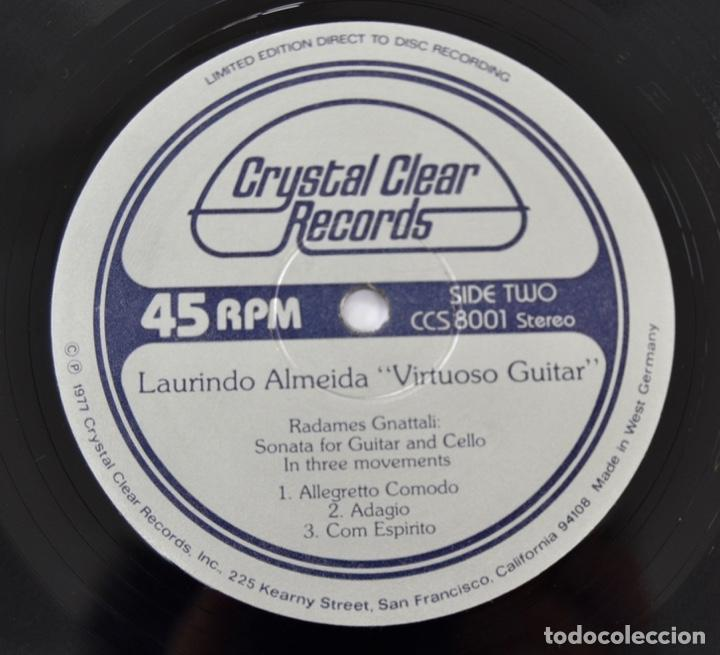 Discos de vinilo: Laurindo Almeida. Virtuoso Guitar. Limited Edition. Direct to Disc Recording. Crystal Clear. 1977 - Foto 7 - 289596008