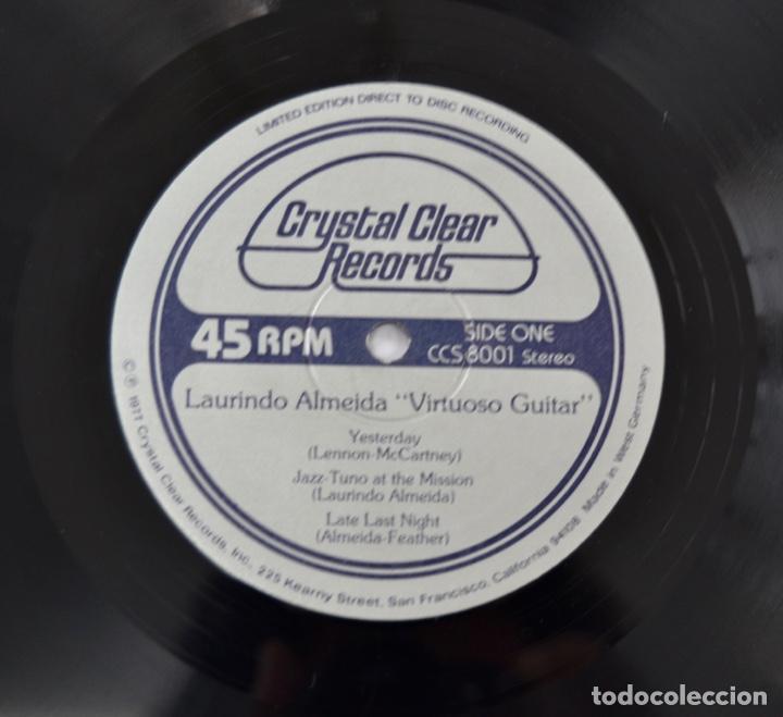 Discos de vinilo: Laurindo Almeida. Virtuoso Guitar. Limited Edition. Direct to Disc Recording. Crystal Clear. 1977 - Foto 9 - 289596008