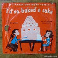 Discos de vinilo: RAY HEATHERTON - IF I KNEW YO WERE COMIN' I'D'VE BAKED A CAKE - 1950 - 6 PULGADAS, 78 RPM. Lote 289597903