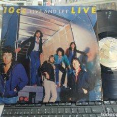 Discos de vinilo: 10CC DOBLE LP LIVE AND LET LIVE U.S.A. 1977 CARPETA DOBLE. Lote 289601353
