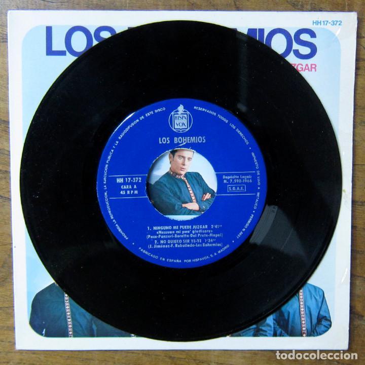 Discos de vinilo: LOS BOHEMIOS - NINGUNO ME PUEDE JUZGAR - NO QUIERO SER YE-YE / NA CATALINA DE PLASS - MALLORCA -1966 - Foto 3 - 289604203