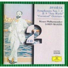 Discos de vinilo: DVORÁK, ANTONIN / LORIN MAAZEL - SYMPHONIES 7,8 &9 NEW WORLD CARNIVAL OVERTURE / WIENER PHILHARMO CD. Lote 289607853