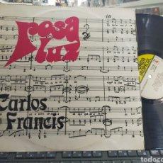 Discos de vinilo: CARLOS FRANCIS LP CANTA LAS CANCIONES MÁS POPULARES DE CUBA ROSA LUZ MEXICO. Lote 289608388