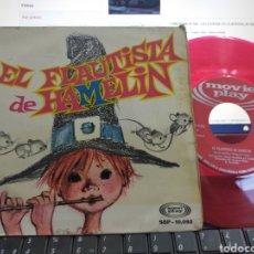 Discos de vinilo: EL FLAUTISTA DE HAMELIN SINGLE CHICHO GORDILLO 1968 VINILO ROJO. Lote 289616028