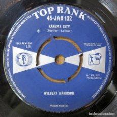 Discos de vinilo: WILBERT HARRISON - KANSAS CITY / LISTEN, MY DARLING - 1959 -. Lote 289616703