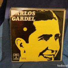 Discos de vinilo: LOTT144 LP ESPAÑA 1966? CARLOS GARDEL HOMONIMO 1 PICO PORTADA ROTO VINILO OK. Lote 289617288