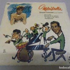 Discos de vinilo: RENATO CAROSONE (EP) MARUZZELLA AÑO – 1958. Lote 289619888